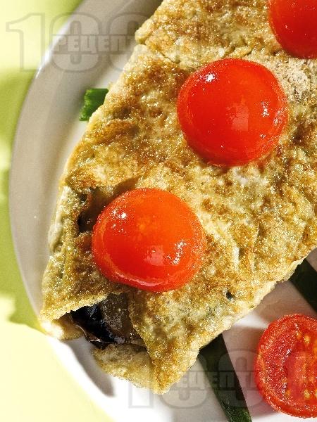 Вегетариански зеленчуков шницел с патладжан и сирене паниран в брашно, яйца и галета - снимка на рецептата